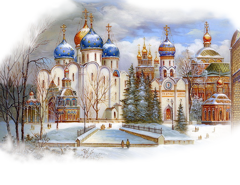 Храмы с открыток, открытку