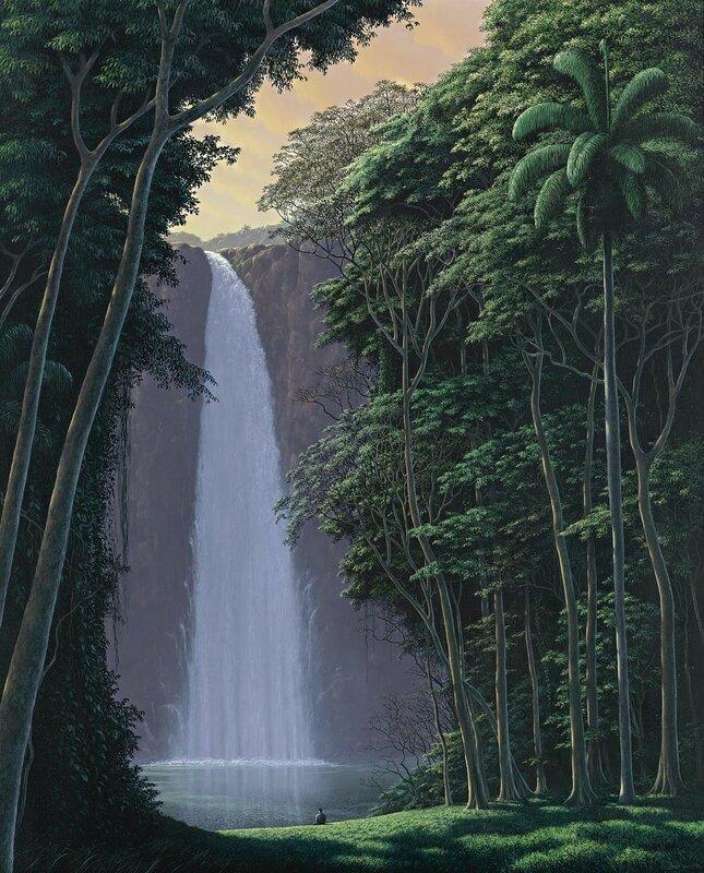 1996_Водопад и медитатор (Cascada y contemplador)_холст, акрилТомас Санчес.jpg