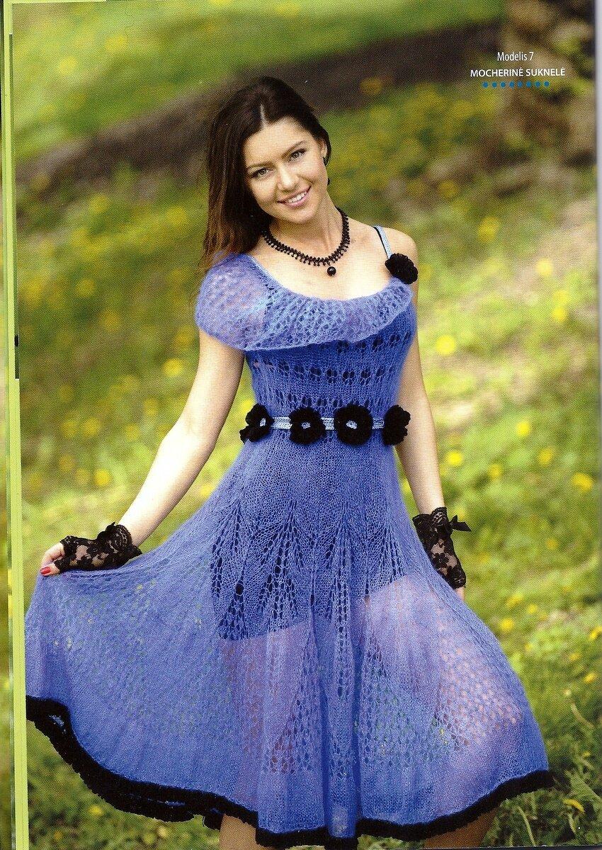 Платье из мохера спицами схема фото 485