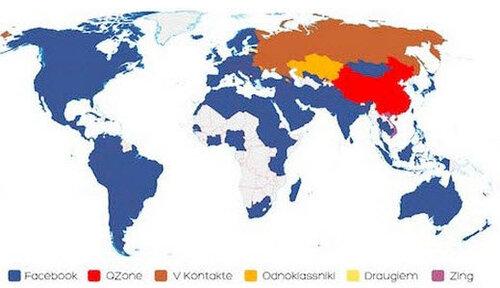 Крупнейшие и популярные социальные сети мира