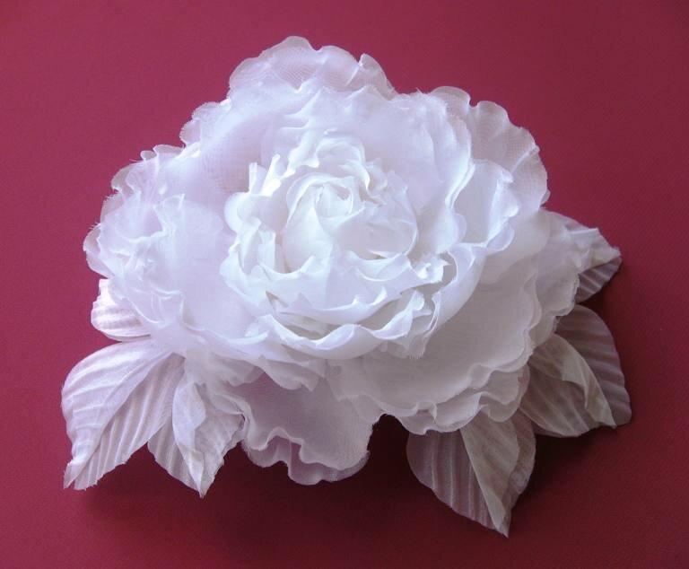 Делаем воздушные цветы из вуали Ярмарка Мастеров