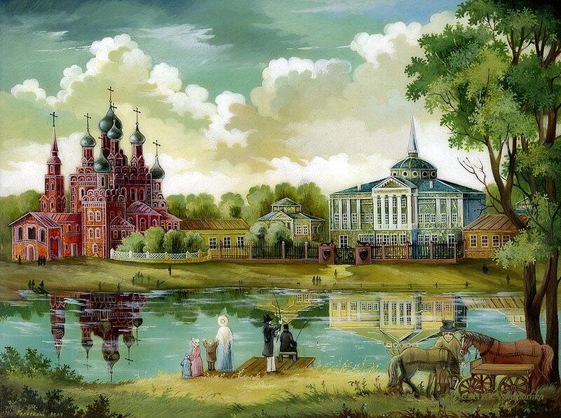 Федоскинская миниатюра - Купола России