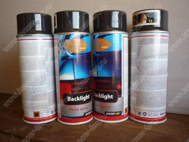 Черные окантовки фар