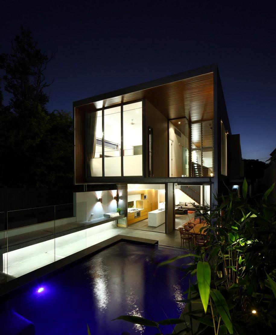 Современный частный дом от Shaun Lockyer Architects в Брисбене, Австралия