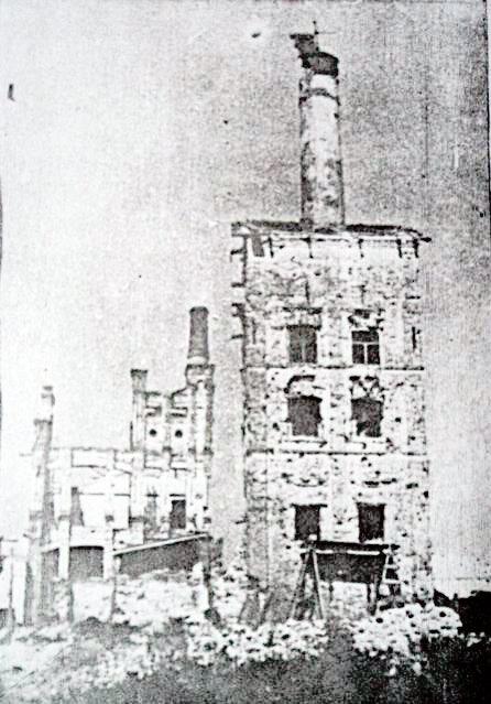 Белгородский пивзавод, разрушенный цех, 1943