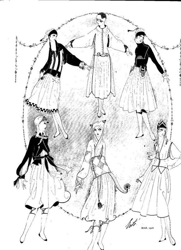 Иллюстрации для Harper's Bazaar работы Эрте.
