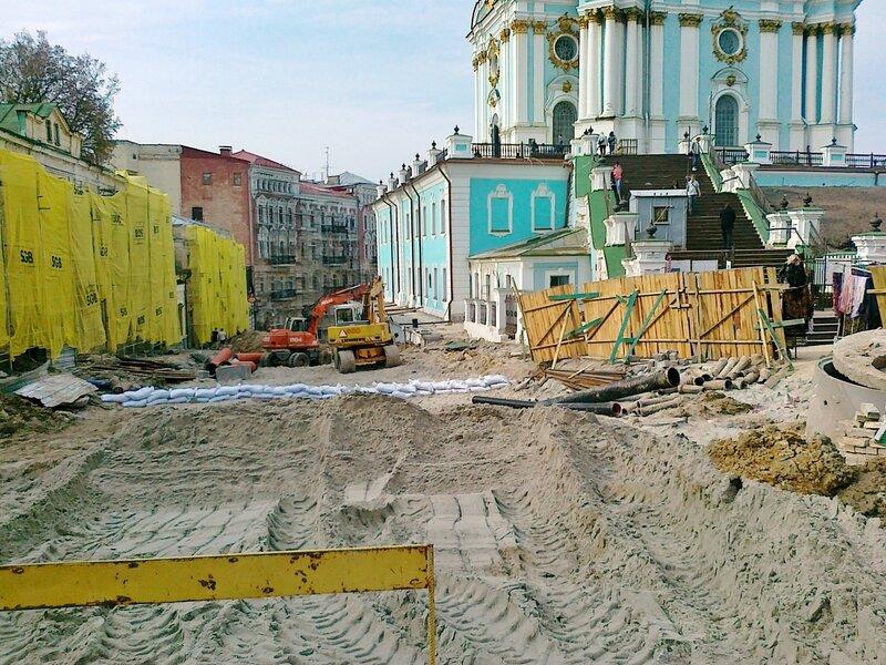 Реконструкция Андреевского спуска