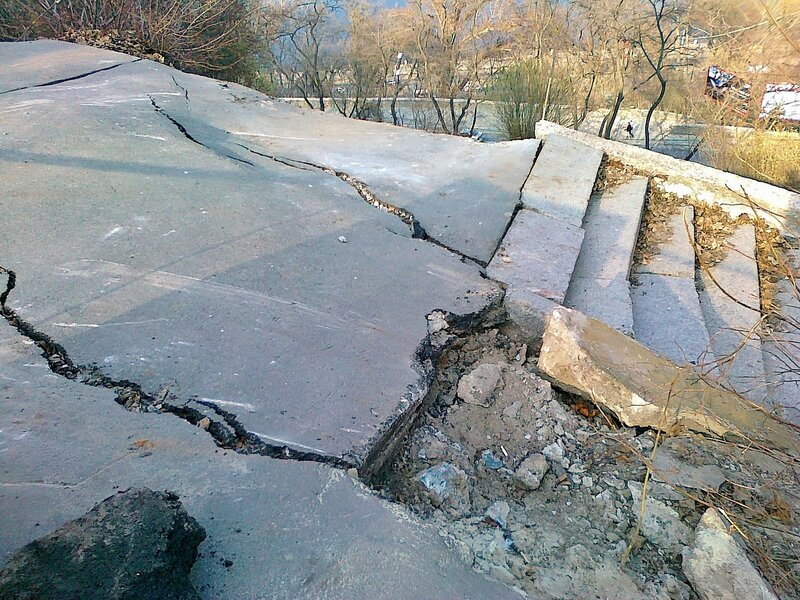 разрушение площадки обозрения Владимирской горки