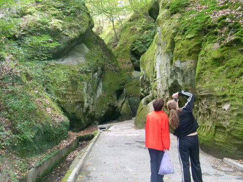 В Горячем Ключе, Дантово ущелье, октябрь 2009