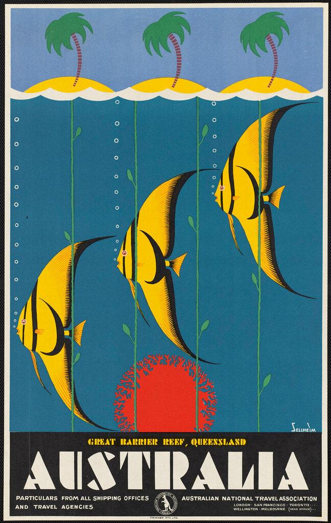 Travel posters Melbourne 1930-39.Sellheim, Gert, 1901-1970