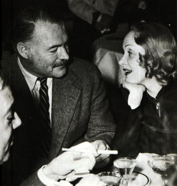 Ernest Hemingway and Marlene Dietrich