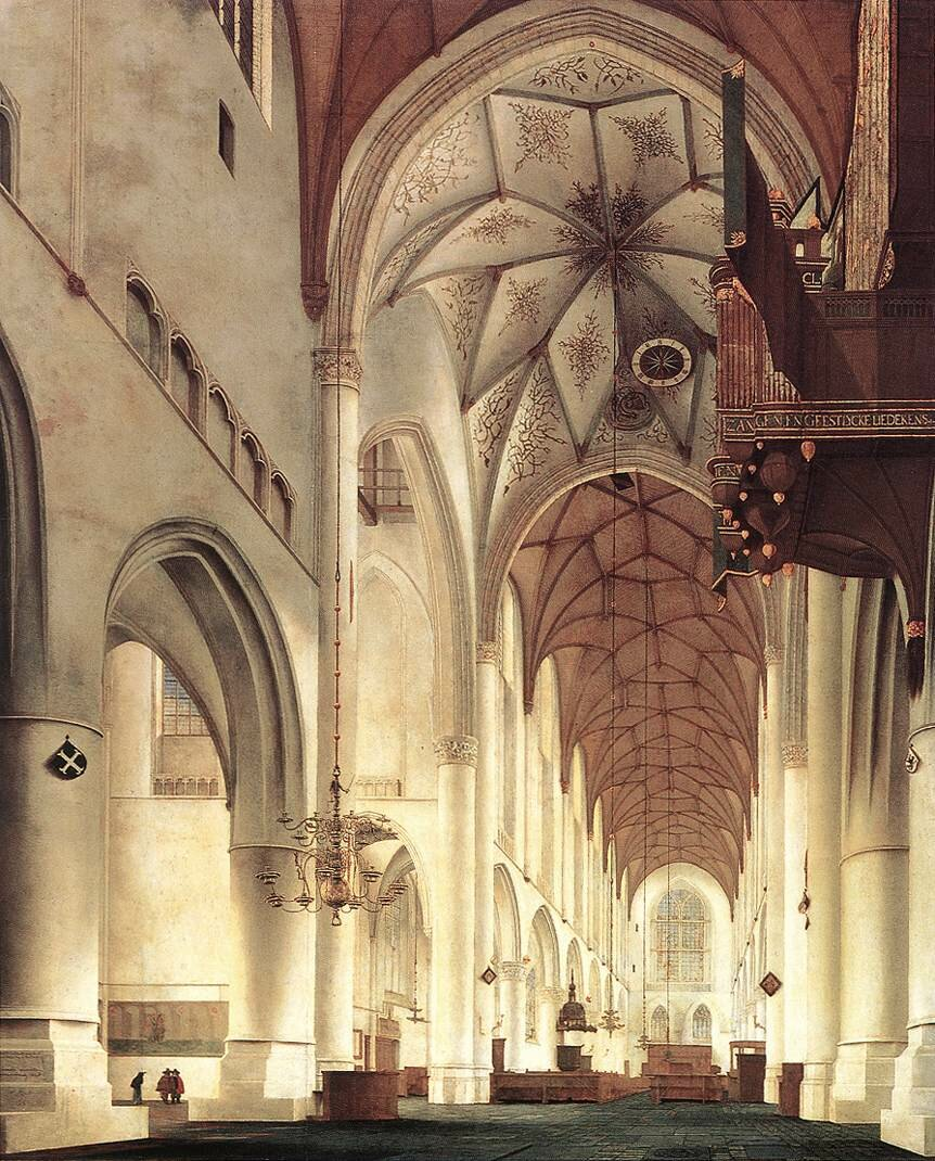 Pieter Jansz SAENREDAM - Interior of the Church of St Bavo at Haarlem