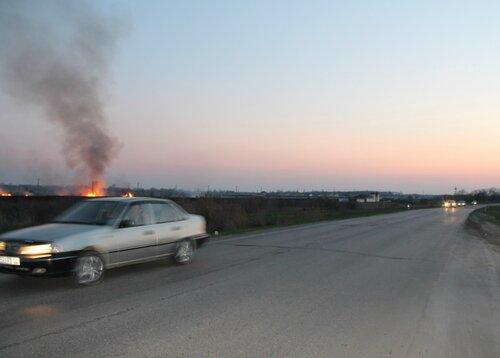 Пожар у Лебяжей Поляны