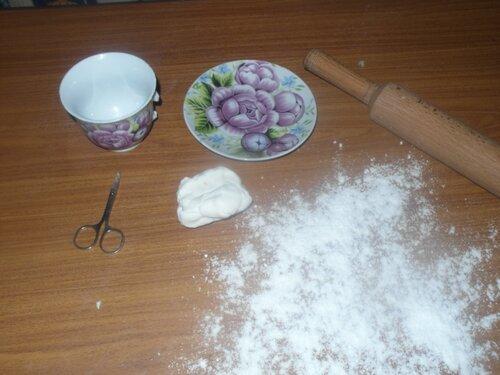 Как сделать из мастики чашку