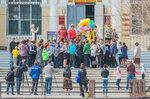 В Астрахани запустили 55 шаров в небо