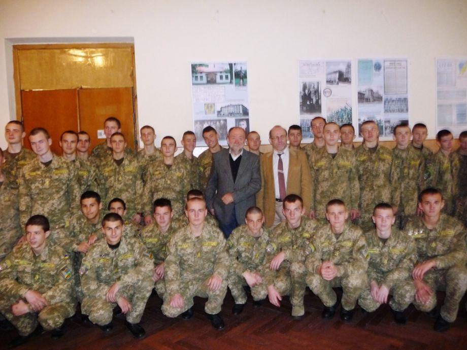 Выставка о Евгения Коновальца открыта в Военном лицее им. И. Богуна
