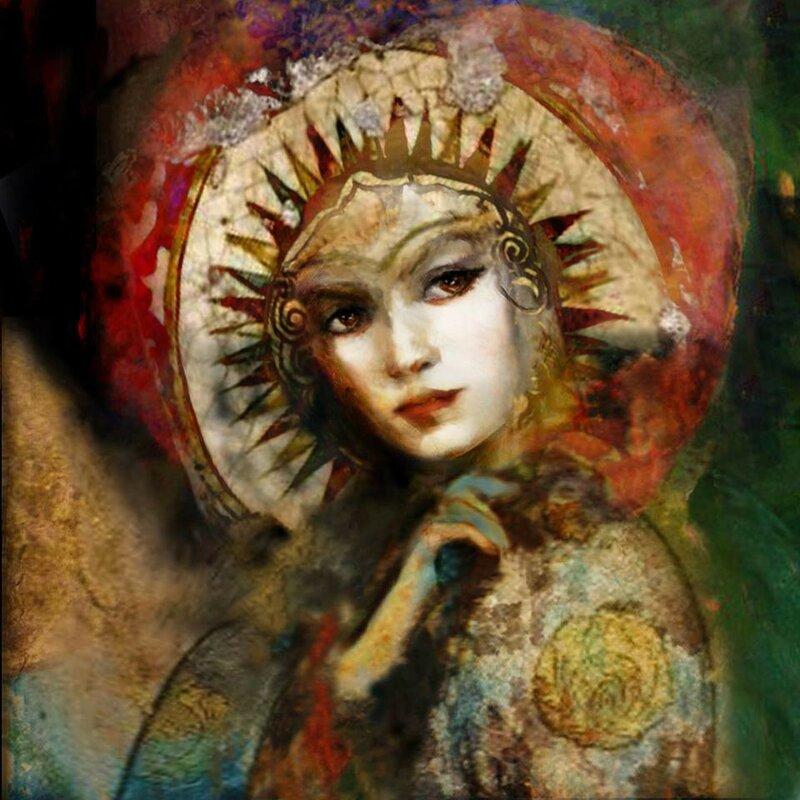 Черные глаза, восточной красавицы, манят, словно омут ночных звезд .Suhair Sibai