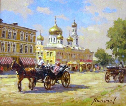 Сергей Николаевич Янченко (род. в 1973 году). Конная прогулка. Ростов-на-Дону. 2017 год.