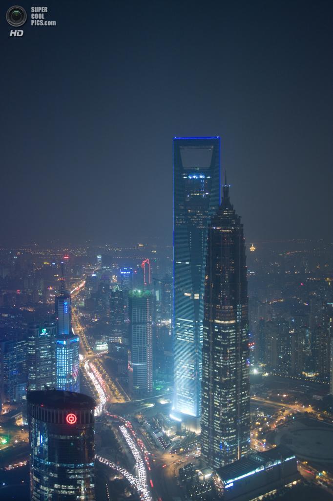 2. Шанхайский всемирный финансовый центр, Шанхай. Высота: 492 м. Введение в эксплуатацию: 2008 г