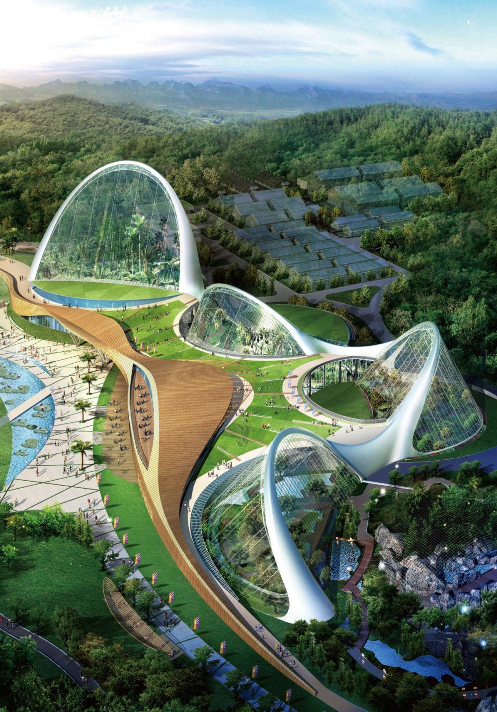 Созданный поинициативе Национального экологического института Южной Кореи комплекс раскинулся на33
