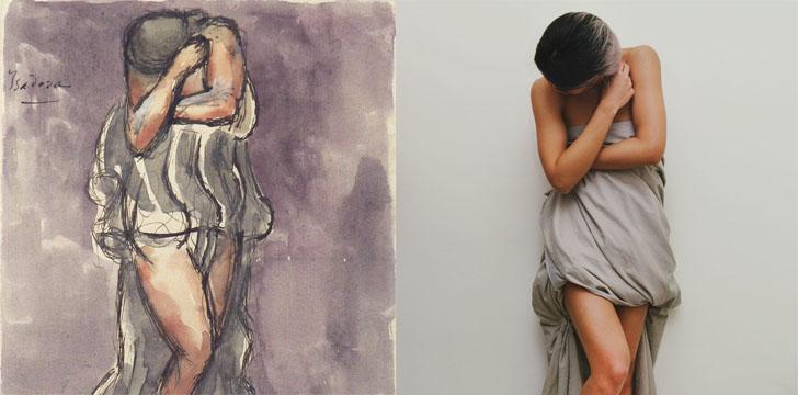 Слева — «Портрет Мари-Эмили Бодуэн, дочери художника», Франсуа Буше, справа — @audrey.pirault.
