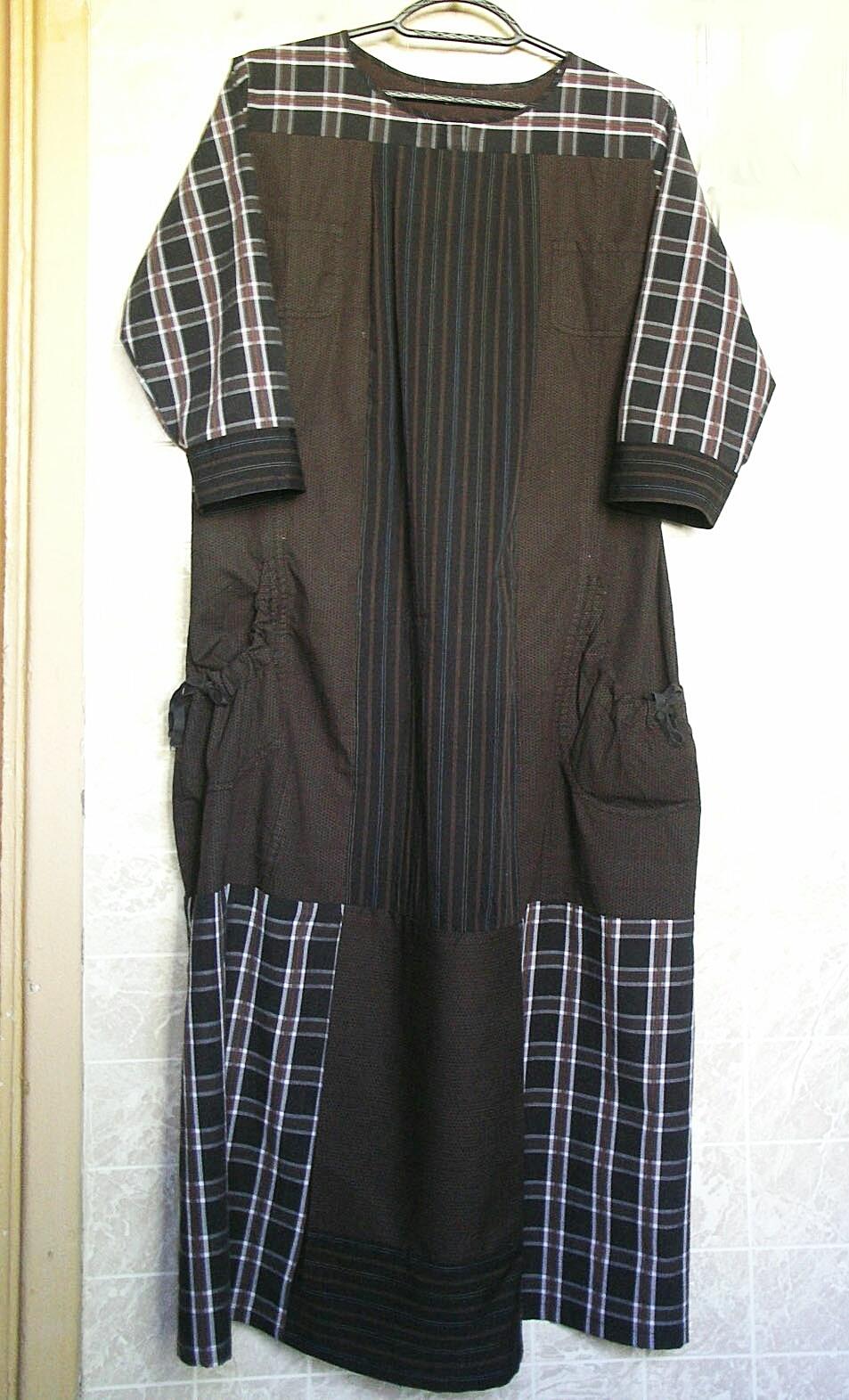 платье  из рубашек мужских