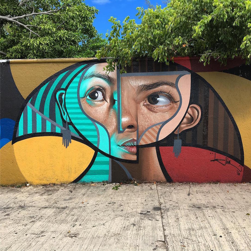 Cubism and Realism Collide in New Murals and Paintings by 'Belin' (8 pics)