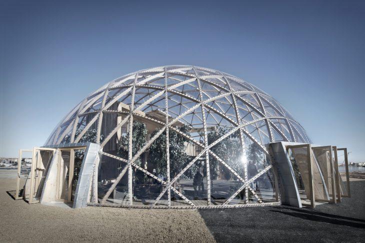 Abningen af Dome of Visions pa Pier 2 i Aarhus.