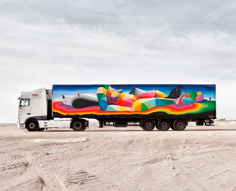 Truck Art Project – When street art invites itself on transport trucks (20 pics)