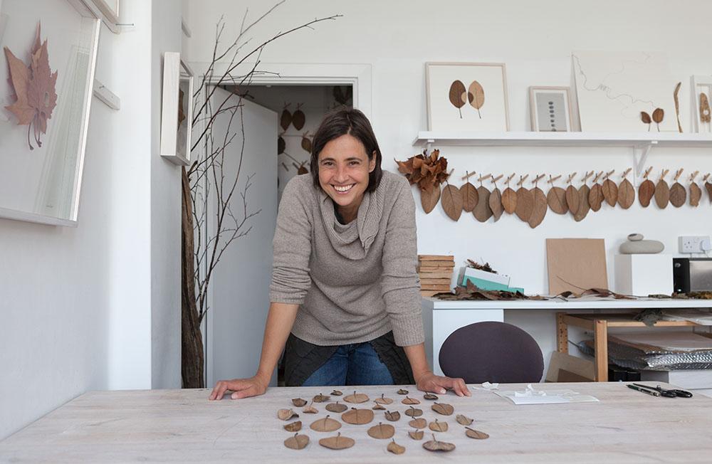 Susanna in her studio, photo by Rebekah Taylor.