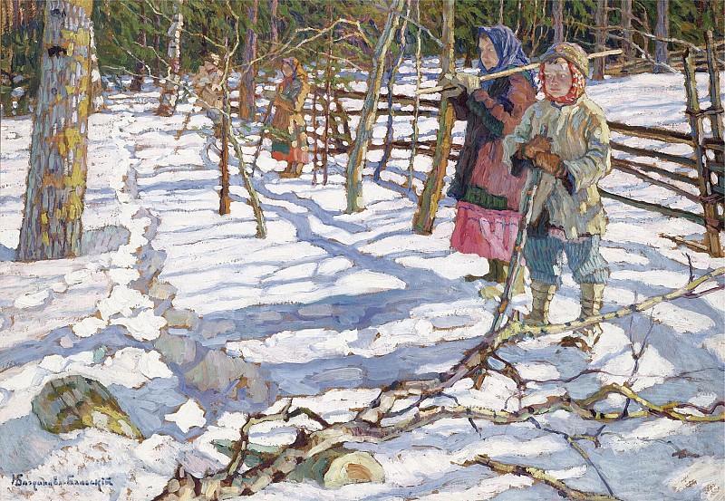 Николай Петрович Богданов-Бельский (1868-1945)Юные охотники на медвед.jpg