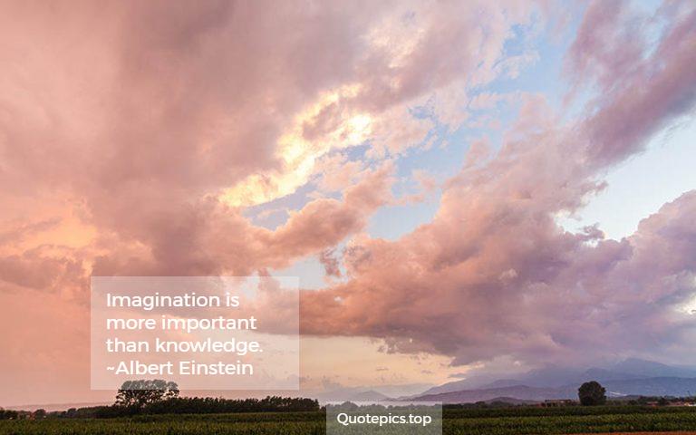 Imagination is more important than knowledge. ~Albert Einstein