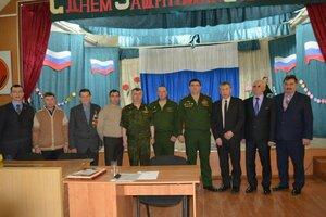 22 февраля глава городской  администрации Николай Яковлев  поздравил личный состав воинской части 06705 с наступающим Днём Защитника Отечества