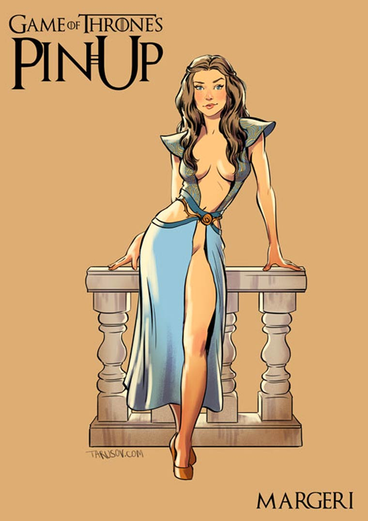 The girls of Game of Thrones as Pin Ups