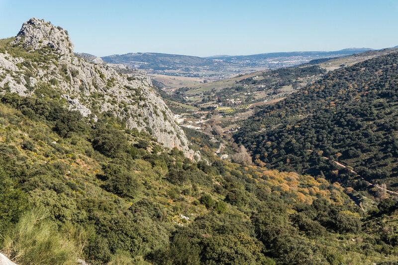 пейзаж на дороге MA-8401 у Бенаохан (Benaojan), Андалусия