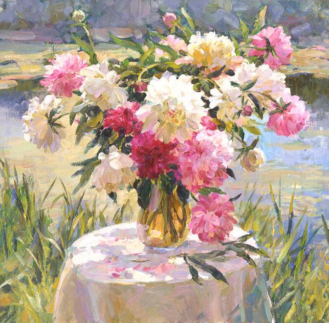 """Схема вышивки  """"Цветы в вазе """".  Оригинал.  Схемы автора  """"nataha2582 """" ."""