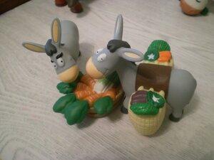 Животные на Ферме №14: ослик, кот