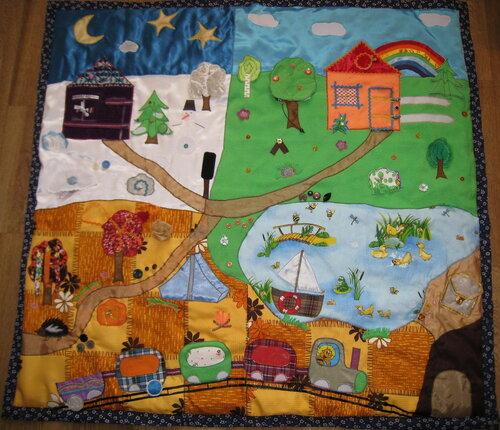 Развивающие игрушки своими руками... хенд-мейд идеи для детского коврика развития