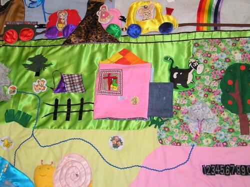 Развивающие игрушки своими руками... детский развивающий коврик