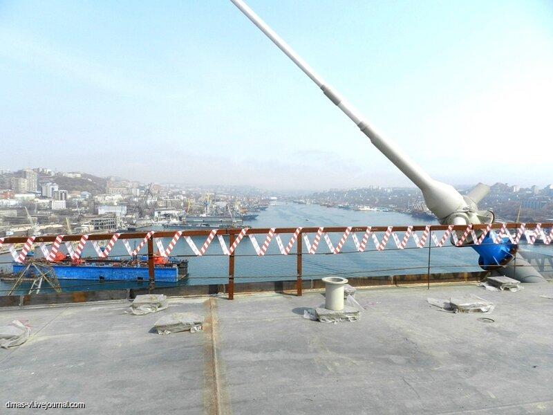 Стыковка моста через бухту Золотой Рог (Владивосток). 14-апреля-2012г