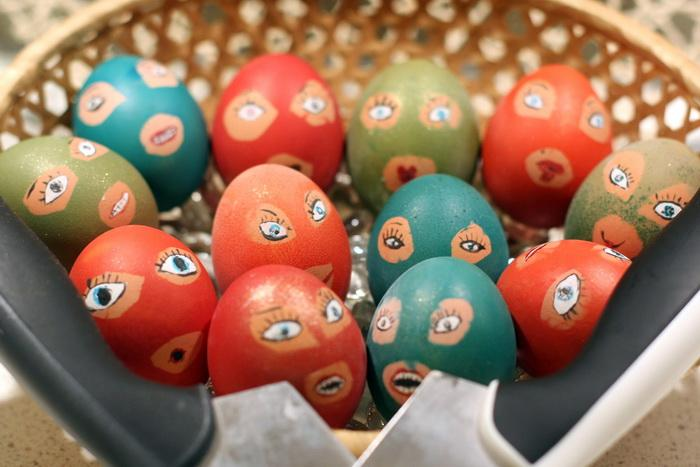 ХВ ! Подборка крашенных яиц  и куличей на  Пасху.