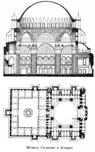Мечеть Силимие в Элирне, чертежи