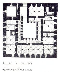 Замок Курессааре, план
