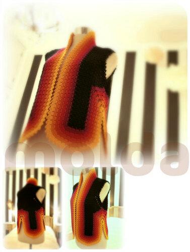 шикарные жилеты крючком