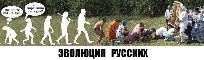 Эволюция русских