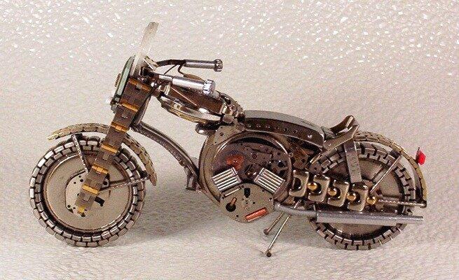 мотоциклы из часов