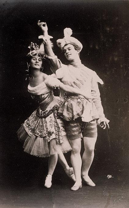 Анна Павлова и Вацлав Нижинский в балете