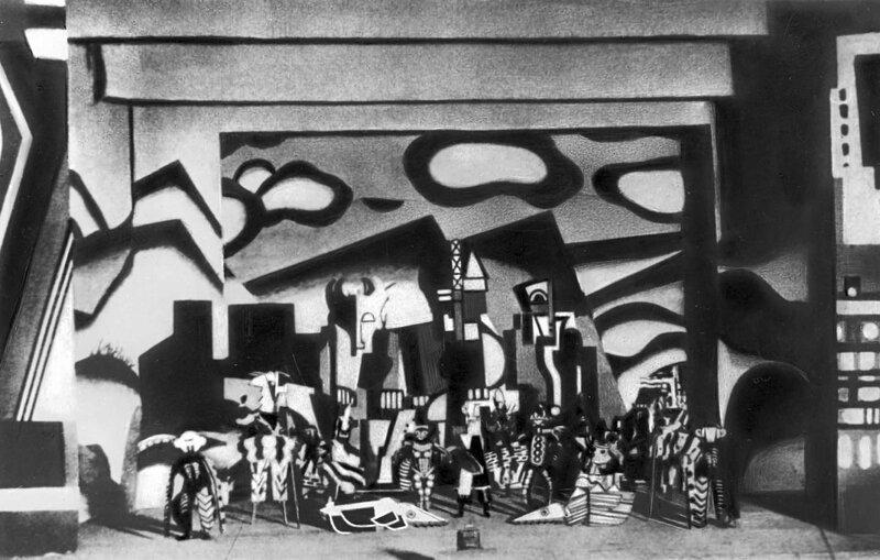 Эскиз декорации к балету