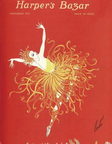 Обложка Harper's Bazaar работы Эрте.
