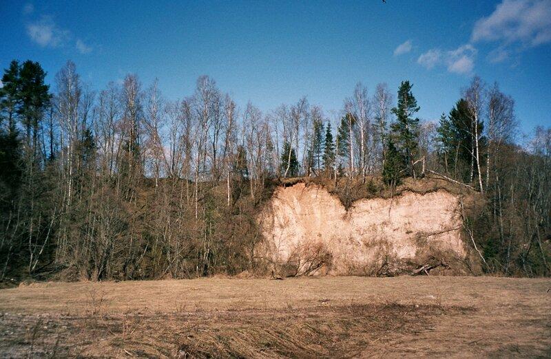 Обрыв над рекой Сережа, Тверская область